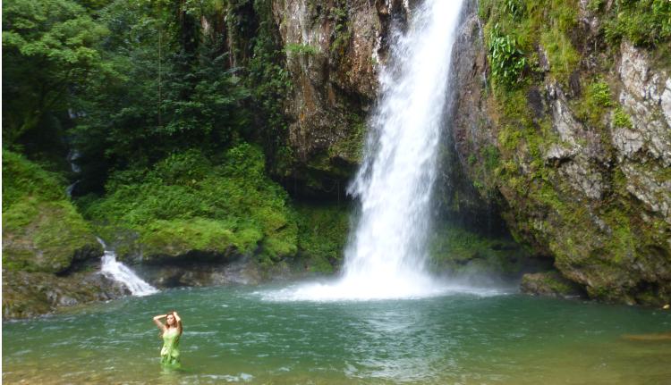 Cascada Las Brisas en Cuetzalan